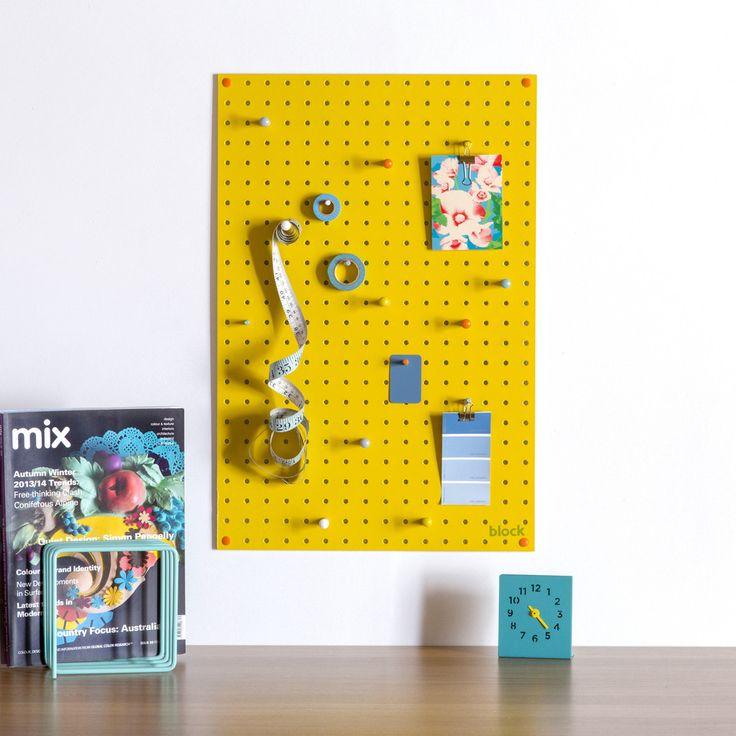 Brilliant peg board display and storage for kid's room or kitchen. £40, www.oatesandco.com.
