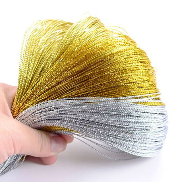 100 м золотые и серебряные свадьбы подарочная упаковка карточки шнурки тег тег строки