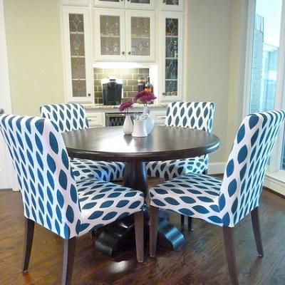 Elegant Fabric Dining Room Chairs
