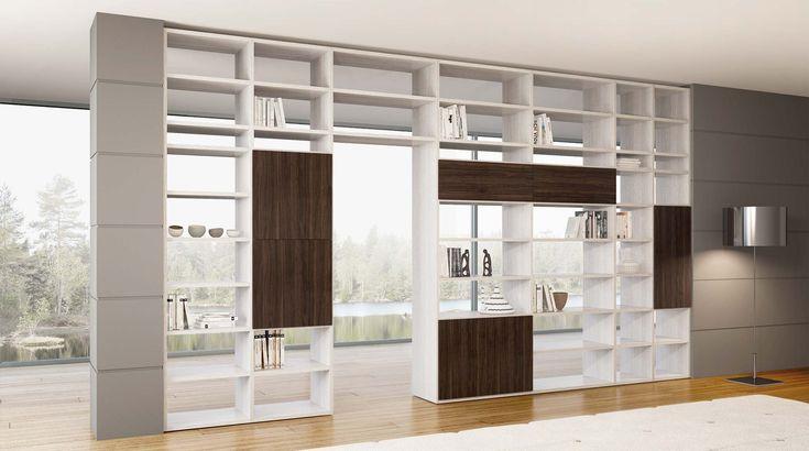 Libreria bifacciale componibile Systema-B - soloLibrerie | Vendita online mobili librerie moderne e design per arredamento