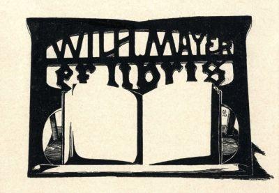 Bookplate by Botho Robert Schmidt for Wilhelm Mayer, 1903