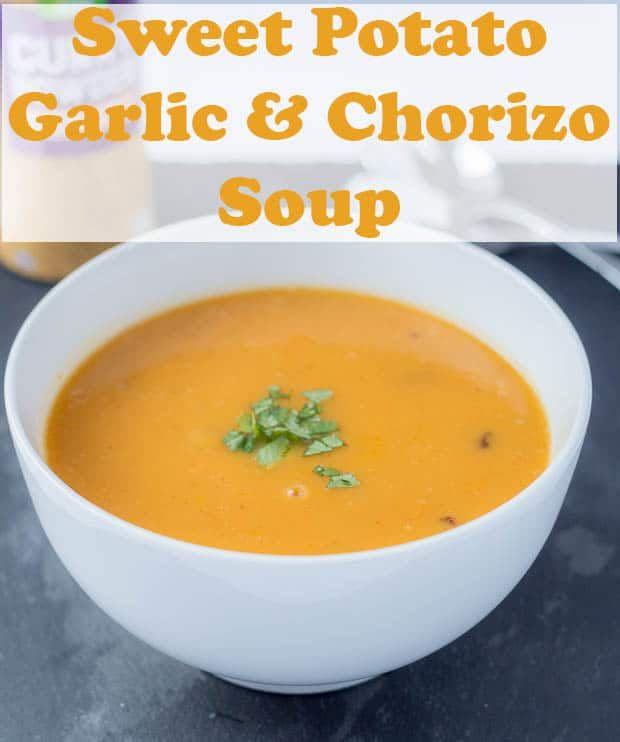 Sweet Potato Garlic And Chorizo Soup