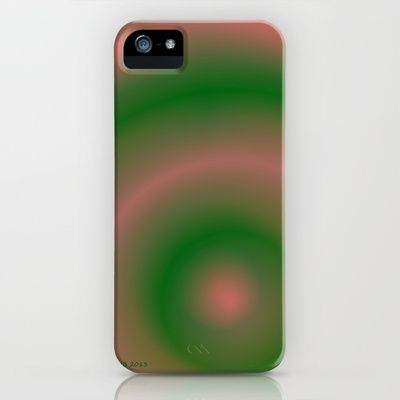 Green and Pink iPhone Case by Johannes Beilharz - $35.00