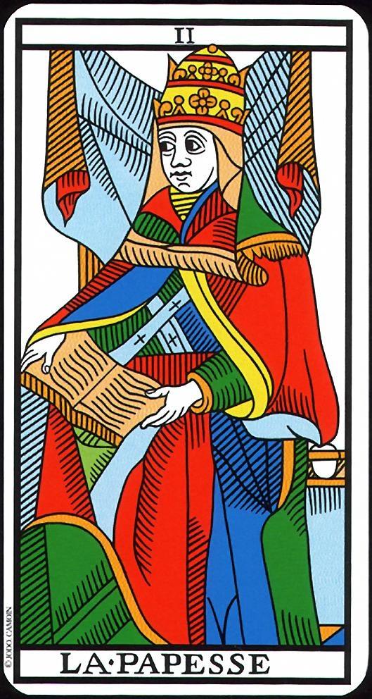 The Magician Priestess - II - Major Arcana   Tarot de Marseille (Camoin-Jodorowsky)