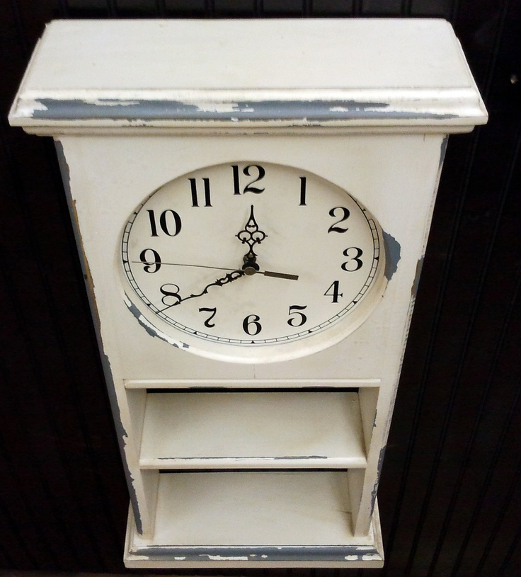 Vintage Upcycled Antique Wall Clock Cabinet By