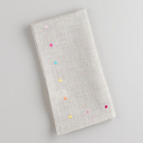 Multicolored Embroidered Dot Napkins at Cost Plus World Market >> #WorldMarket Easter