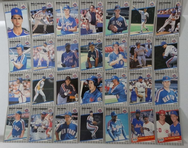 1989 Fleer New York Mets Team Set of 28 Baseball Cards #NewYorkMets