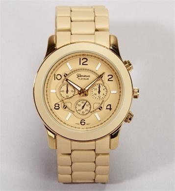 Bone/Gold Ceramic Watch