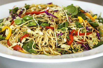 Asain Noodle Salad: the dressing steals the show.