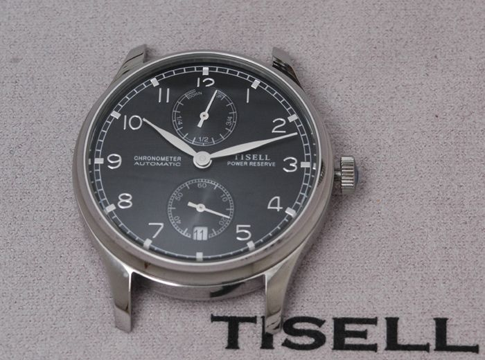 Tisell ST-19. 40mm case. 11.5mm thick. 49mm lug to lug. $125 USD