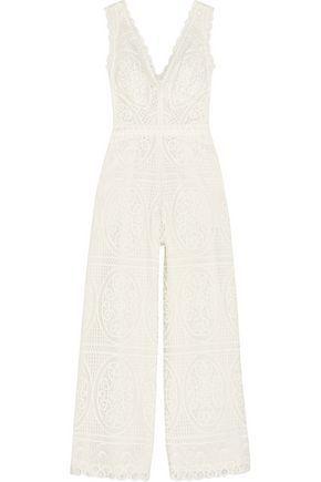 484412be2b55 TEMPERLEY LONDON WOMAN TITANIA GUIPURE LACE JUMPSUIT WHITE.  temperleylondon   cloth