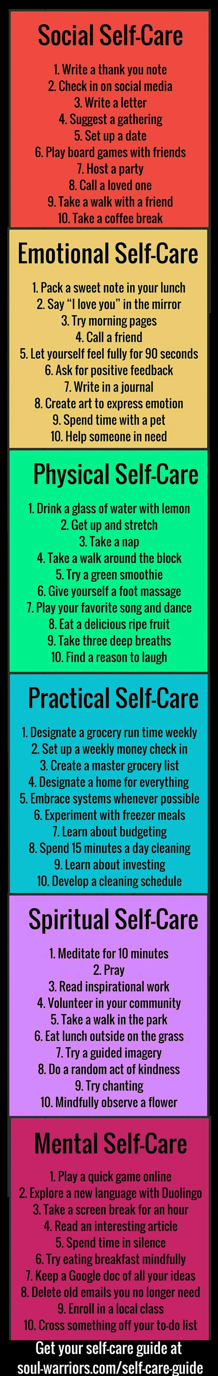 This is the most accurate & real self care list I've seen so far. Requires little to no money and is based on actual psychiatric recovery practices  #OneWomanCanCanada @marykaycanada