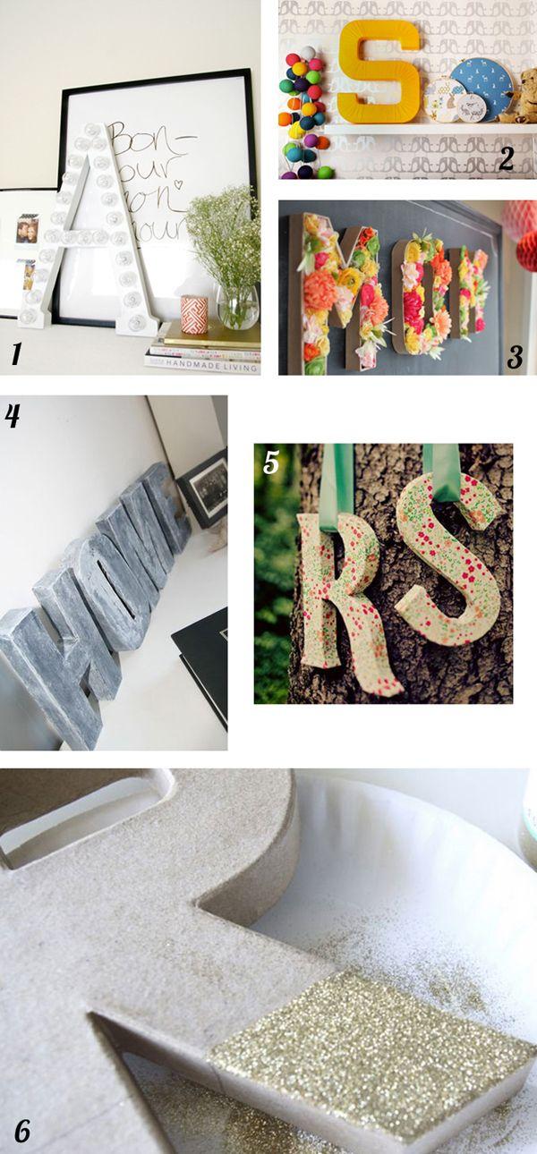 29 best LETTRE EN CARTON images on Pinterest Cardboard letters