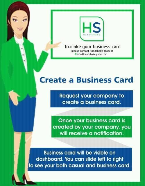 Go Paperless With HandShake,  Prepare and Share Smart Digital Visiting Cards  Download the app now https://goo.gl/VKM21C