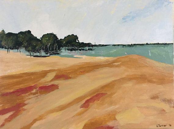 Australian Landscape Painting, Abstract, Original, Acrylic on Canvas, Australian Artist, Ready to Hang