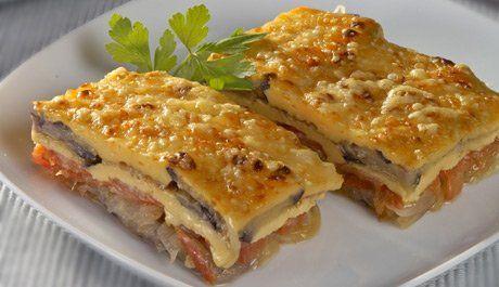 Pastel de berenjenas con queso