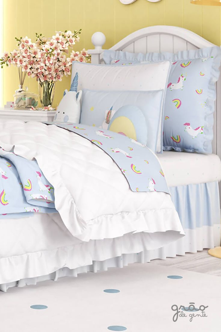 e058d38654 O Kit Cama Infantil Amiguinhos Unicórnio vai levar mais beleza e conforto  para o quarto infantil