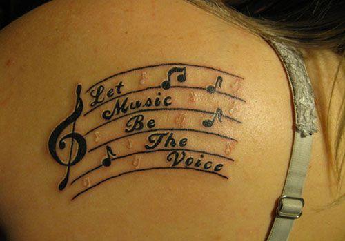 41 Euphonious Music Tattoos | Creative Fan