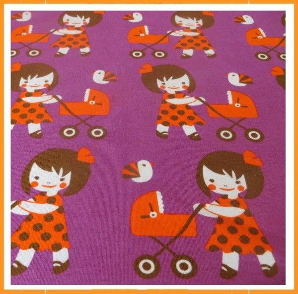 Majapuu tricot poppenwagen
