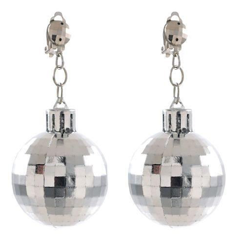 0f2261ec0226e Silver Disco Ball Earrings in 2019   70s party   Disco theme parties ...