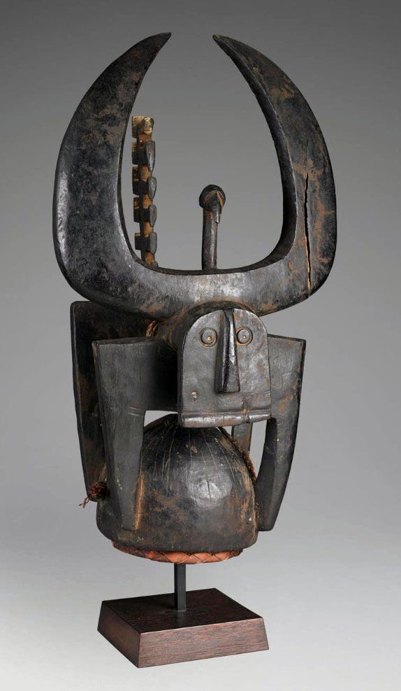 Northern Tussian or Siemu People of Burkina Faso - African Helmet Mask