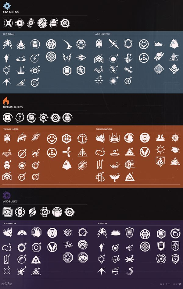 Collection of icons & 2d art created for the original 2014 release of Destiny.