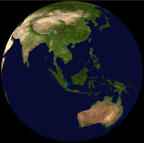 Malaysia on satellite map (NASA World Wind) : Malaysia is within the equatorial region, where a tropical rainforest climate is apparent all year round. ◆Malaysia - Wikipedia http://en.wikipedia.org/wiki/Malaysia #Malaysia