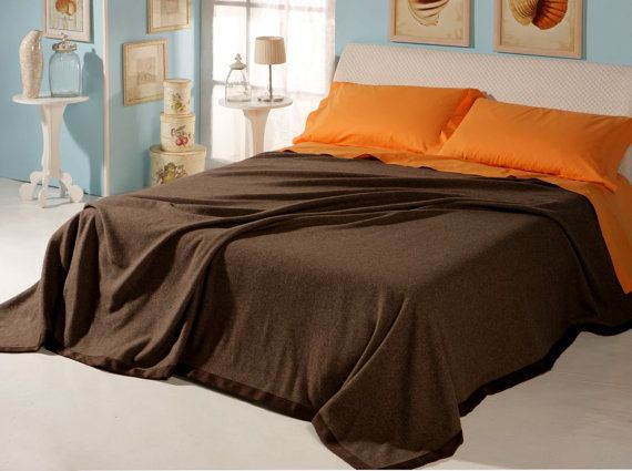 King Size Weighted Blanket Pure YAK Natural Brown color providing warmth during Winter months Made in ITALY, FREE Shipment Price Reduced