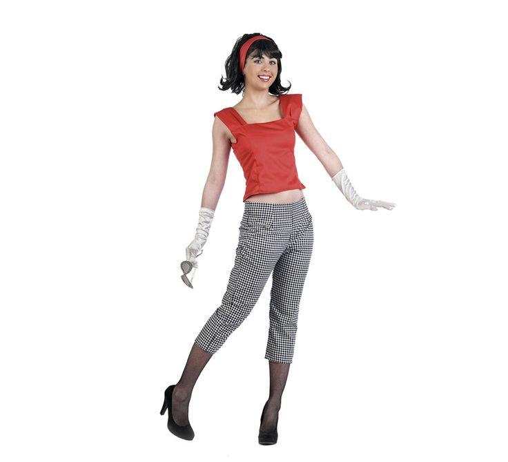 #Disfraz de #Mujer de los #Años50 #Pantalón #Deluxe. Alta calidad, hecho en #España. #disfrazzes #disfraces