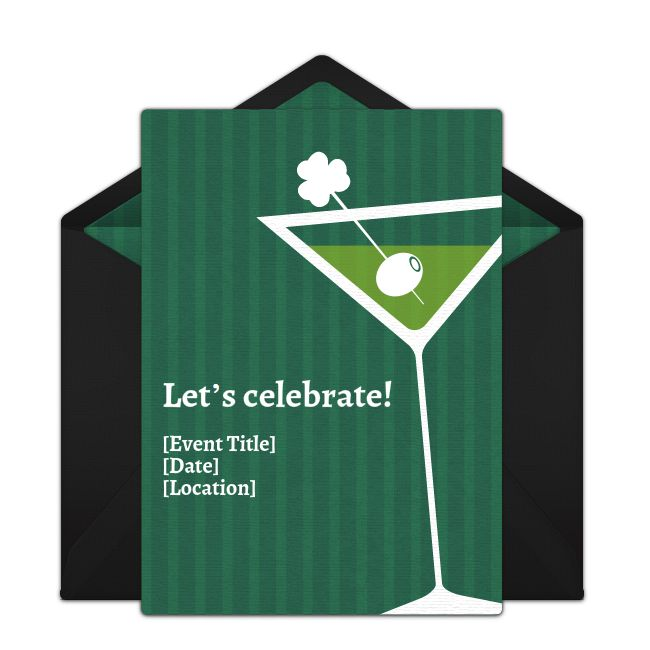 Free Irish Martini Invitations