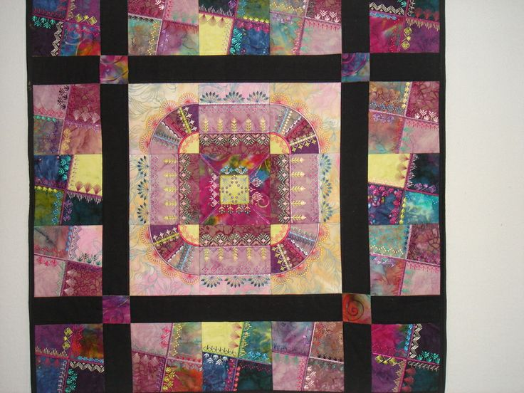 247 best Crazy Quilting - Design / Layout ideas images on ... : crazy quilting for beginners - Adamdwight.com