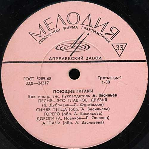 Soviet brand of music records Melodya