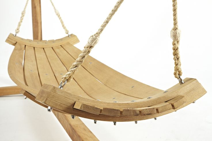 Beautiful solid steamed oak hammock www.hertfordshirehammocks.com