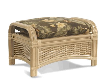 Rattan Ottoman: Tropical Breeze Collection Via @Wicker Paradise #furniture  #rattan #wicker