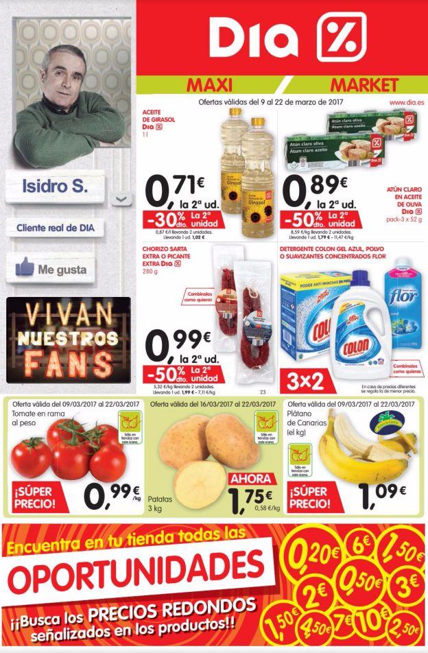 Catálogo Dia del 9 al 22 de Marzo -  Folleto de ofertas de Supermercados Dia del 9 al 22 de Marzo de 2017   #CatálogosDIA, #Folletosonline   Ver en la web : https://ofertassupermercados.es/catalogo-dia-del-9-al-22-marzo/