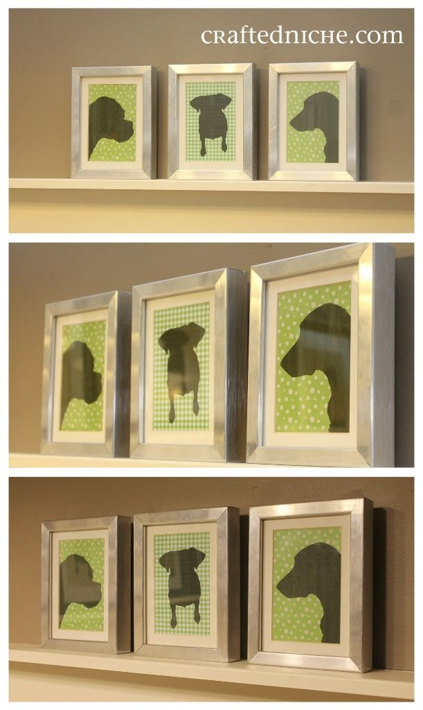 Make and print your pet's silhouette on scrapbook paper!