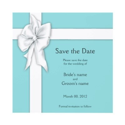 Tiffany blue save the date cards