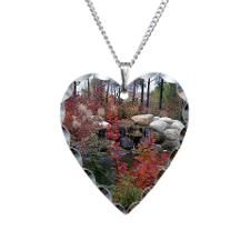 Songdove Books - Fall Fountain heart pendant.