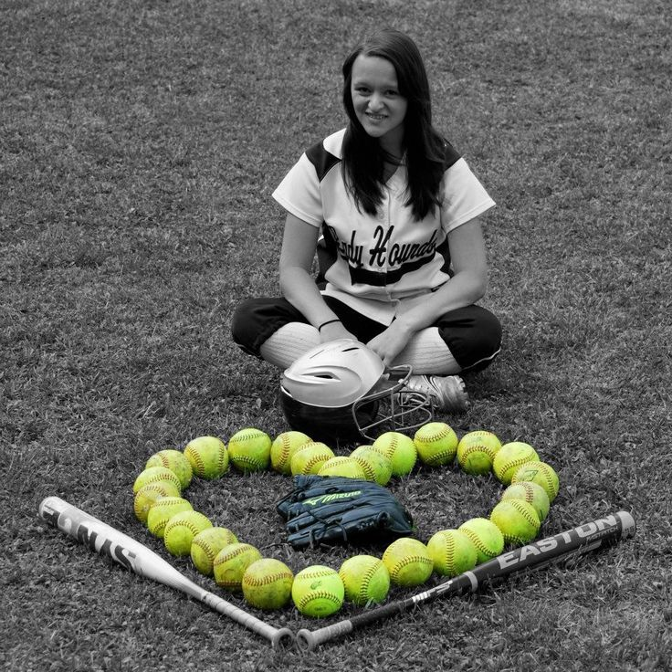 Softball senior picture.but use tennis balls and racquet