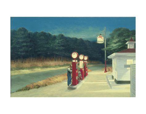 Gas, c.1940 by Edward Hopper. Print from Kenneth Brown's Inspiring Insider galleries on Art.com