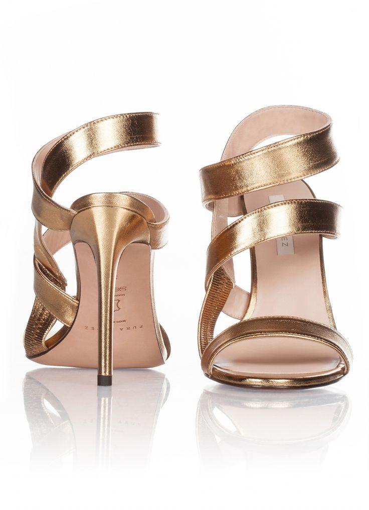Zapatos dorados de verano formales para mujer 2XSoUnTClU