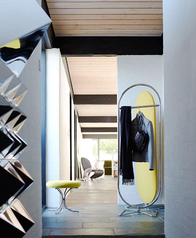 Mirror Sculpture wall decoration, Modular Chair and System 1-2-3 Rack  Danish Interior Design Budapest