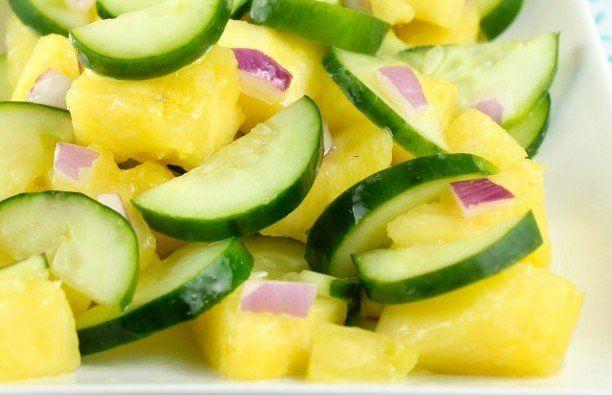 Recept Komkommer Ananas Salade