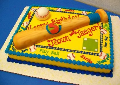 Baseball-Blechkuchen | Sugar Chic Cake Designs   – luckys birthday