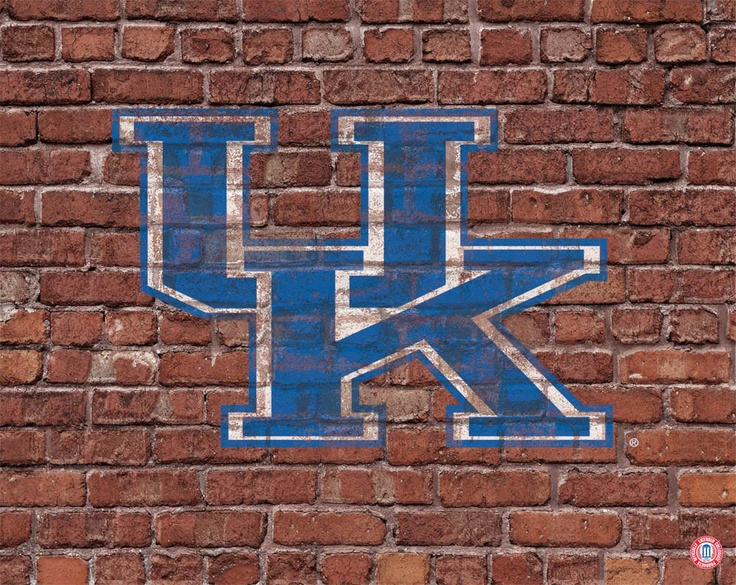 Uk Basketball Logo: Kentucky Wildcats Brick Wall Logo