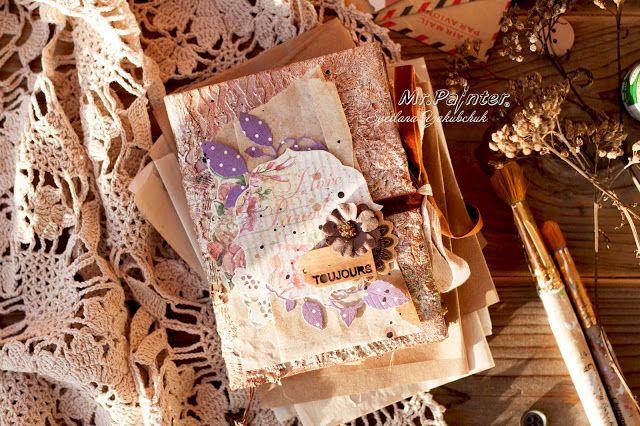 ТМ Mr.Painter: Мастер-класс: Винтажный блокнот I love Paris от Светланы Якубчук