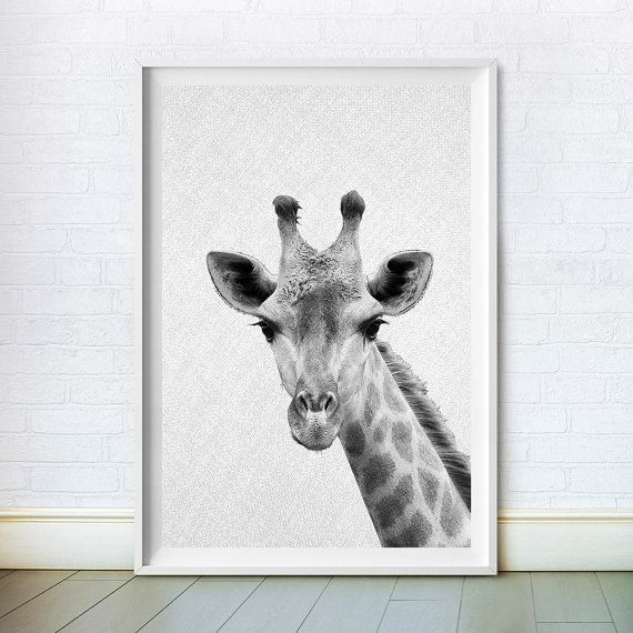 Giraffe Print Woodlands Animal Wall Decor by ChoosyArtDownload