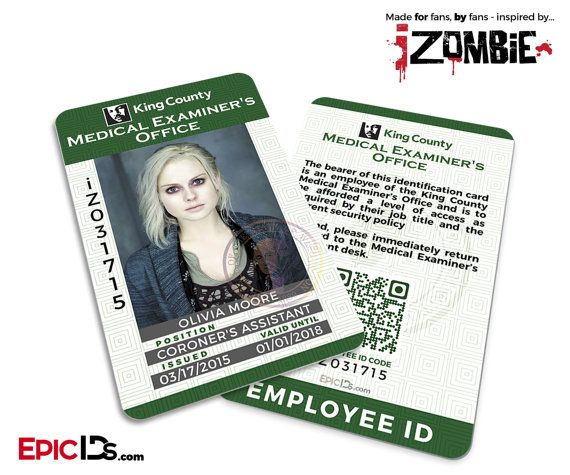 iZombie TV Series Inspired King County Medical by EpicIDs on Etsy