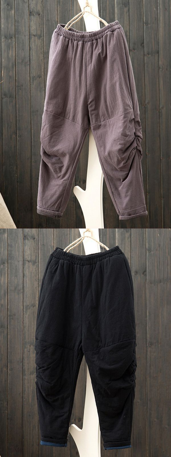 Casual loose solid elastic waist women harem pants types of trousers and pants #perbedaan #trousers #dan #pants #trousers #and #pants #difference #trousers #pants #jeans #trousers #pants #waistband