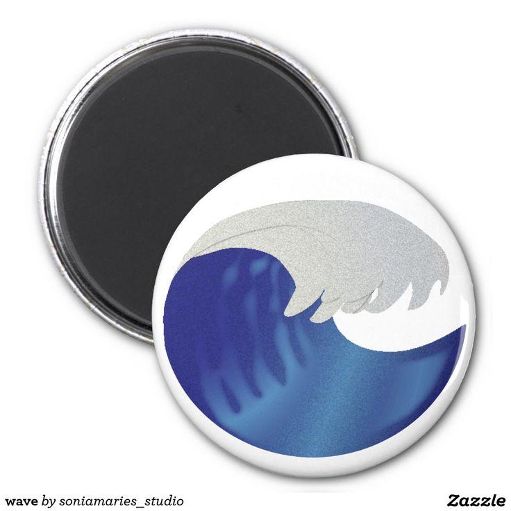 wave 2 inch round magnet